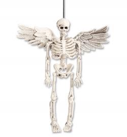 Skelett Dekohänger mit Flügel ca. 15 cm