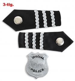 Polizeiabzeichen, 3-tlg.