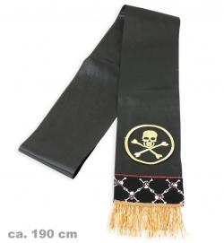 Piraten Schärpe schwarz