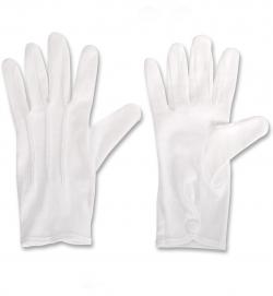 Nikolaus Handschuhe weiss mit Druckknopf