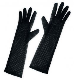 Handschuhe Netz, schwarz, ca. 40 cm Länge