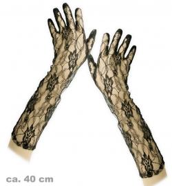 Handschuhe Spitze, schwarz, ca. 40 cm Länge