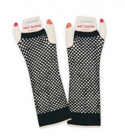 Handschuhe Netz, schwarz, ohne Finger