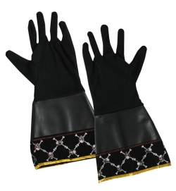 Handschuhe Pirat, Schaft mit Lederoptik