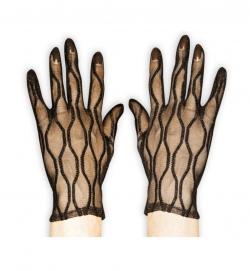 Handschuhe Spitze, schwarz