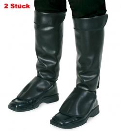 Stiefel-Stulpen, mit Klettverschluß, Lederoptik