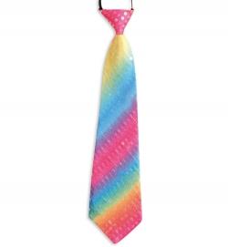 Krawatte Pailletten Rainbow, ca. 38 cm