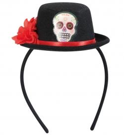Haarreif mit Hut - Tag der Toten