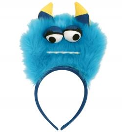 Haarreif Monster blau