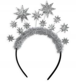 Haarreif Glitzer-Sterne Weihnachten