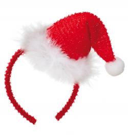 Glitzer Nikolausmütze auf Haarreif