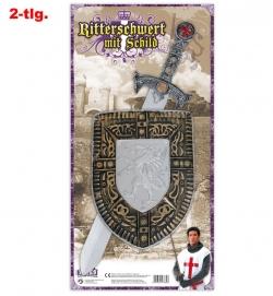 Ritter-Schwert + Schild, Schwert ca. 57 cm Länge