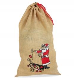 Jutesack Nikolaus 50 x 70 cm Weihnachtsmann Geschenkesack