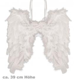 Federflügel 39 cm Farbe weiß