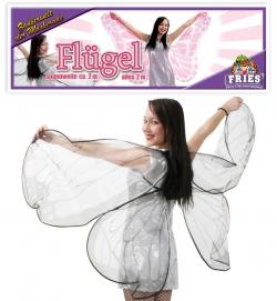 Faschingsflügel - Nacht-Falter-Flügel aus Stoff 200 cm