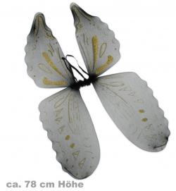 Flügel,schwarz-gold, ca. 78 cm Höhe