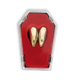 Vampirzähne im Sarg, gold