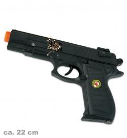 Pistole Super Shot, mit Licht & Sound, ca. 22 cm Länge