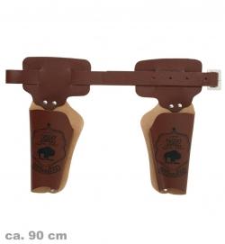 Doppelholster braun - Cowboygürtel für 2 Waffen