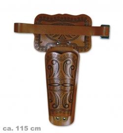 Revolvergürtel Erwachsene, ca.115 cm Länge (Lederfaserstoff)