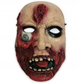 Halbmaske Horror, (hängendes Auge), Latex