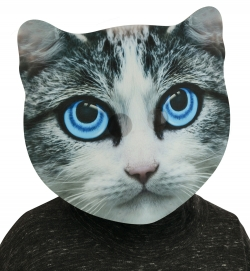 BigSize Maske Katze, ca. 35x36 cm