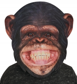 BigSize Maske Affe, ca. 35x36 cm