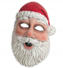 Maske Nikolaus Weihnachtsmann Santa Claus Halbmaske