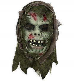 Horrormaske Zombie mit Tuch Halbmaske