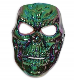 Totenkopf Halbmaske Horrormaske shiny skull