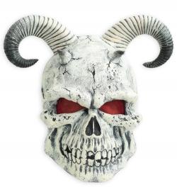 Halbmaske Horrormaske skull horn Teufel