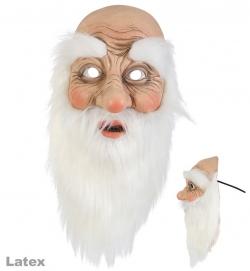 Halbmaske Santa Claus, Latex, Nikolaus, Weihnachtsmann