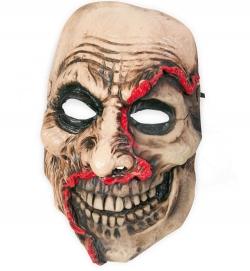 Horror Maske halber Totenschädel