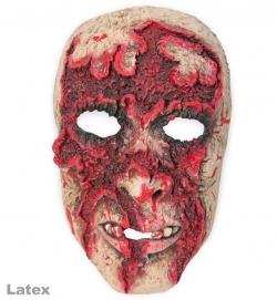 Horrormaske verbranntes Gesicht