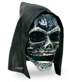 Totenkopfmaske mit Haube