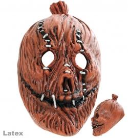 3/4 Maske Horror-Kürbis, Latex