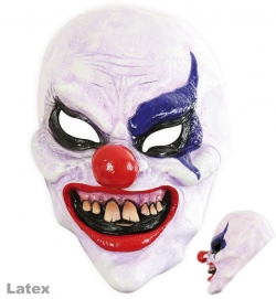 3/4 Maske Horror-Clown, Latex