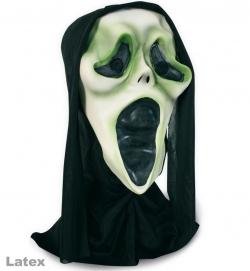 Halloweenmaske schreiender Geist mit Haube