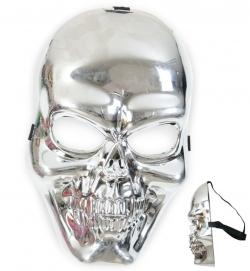 Silberne Schädel Maske