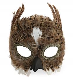 Augenmaske Tiermaske Domino Eule