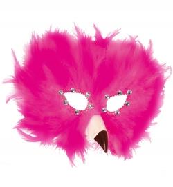 Federdomino Flamingo Maske