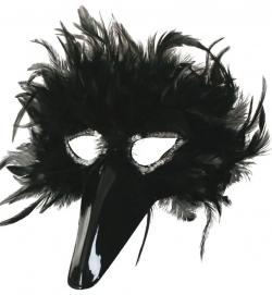 Federdomino schwarz