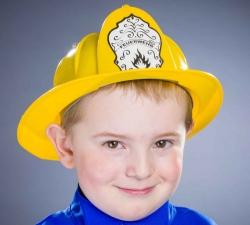 Feuerwehrhelm gelb