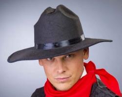 Cowboy-Hut, schwarz