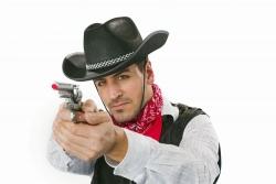 Cowboyhut mit Band, schwarz Größe ca. 59