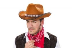 Cowboyhut mit Band, braun Größe ca. 59