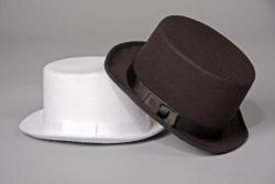 Zylinder Farbe schwarz Hutgröße 61