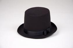 Zylinder schwarz Hutgröße 61