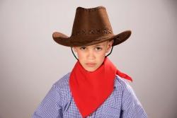 Cowboyhut für Kinder Kunstleder, braun