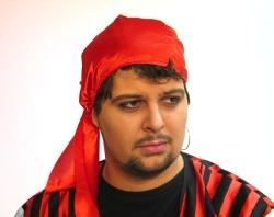 Bandana Tuch Pirat rot